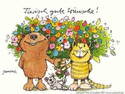 Tierisch Gute Wünsche Wünsche Postkarte Janosch