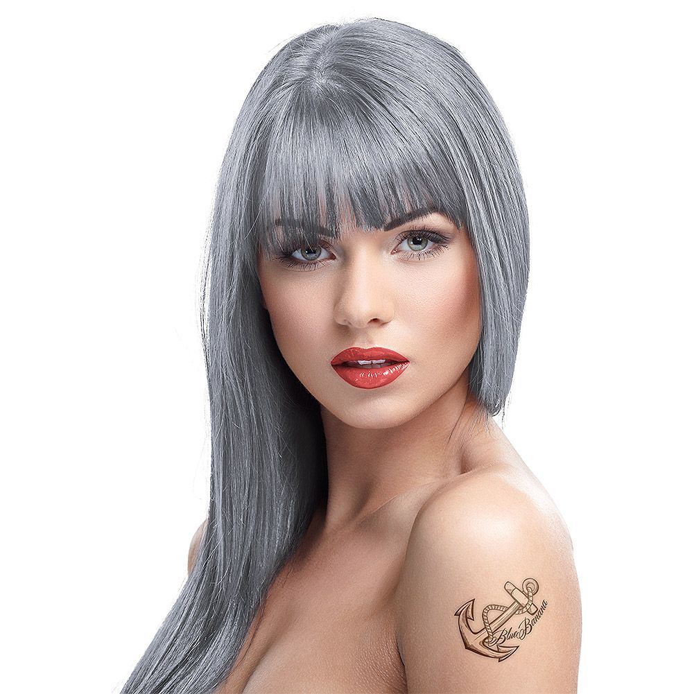 Crazy color semipermanent hair dye ml silver in i love