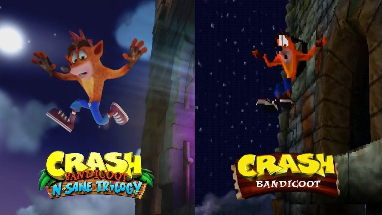 Crash Bandicoot Intro Remaster Vs Original Comparison