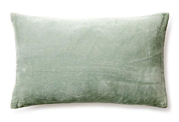 Best Velvet 12X20 Pillow Celadon On Onekingslane Com Jiti 400 x 300