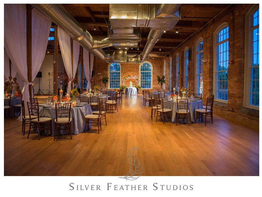 Beautiful Coral And Blue Decor At The Cotton Room By Fleurtations Weddings Events In