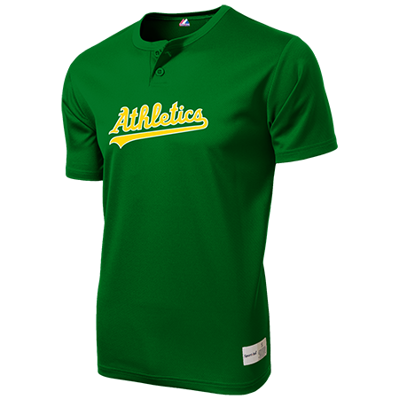 Athletics Two Button Baseball Jersey | Team Orders - CustomPlanet.com