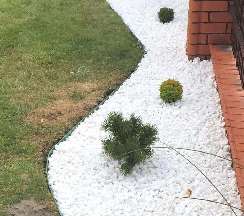 47 Fantastic White Stone Landscaping Ideas To Transform Your Yard Stone Landscaping Landscaping With Rocks Pebble Garden