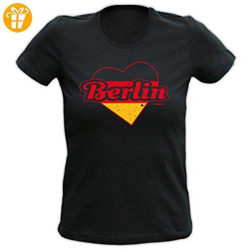 Lady Shirt Deutschland Herz Berlin Damen Shirt Geburtstag Geschenk T-Shirt  geil bedruckt Goodman Design