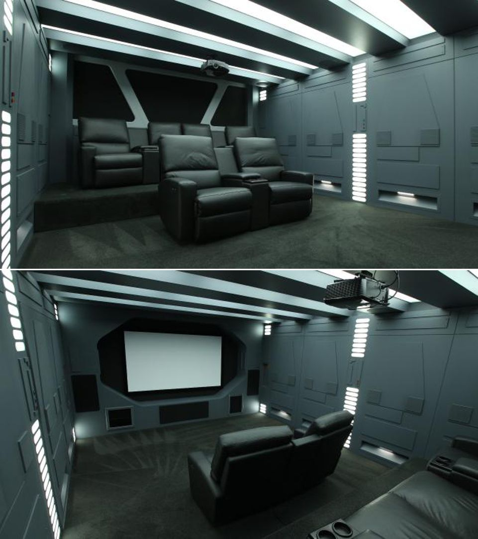 Star Wars themed home theater in Australia  home theater in 2019  Home cinema room Home
