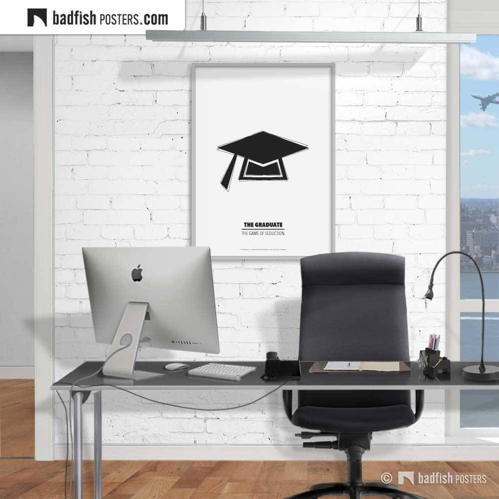 The Graduate Print, Alternative Movie Poster, Academic Cap