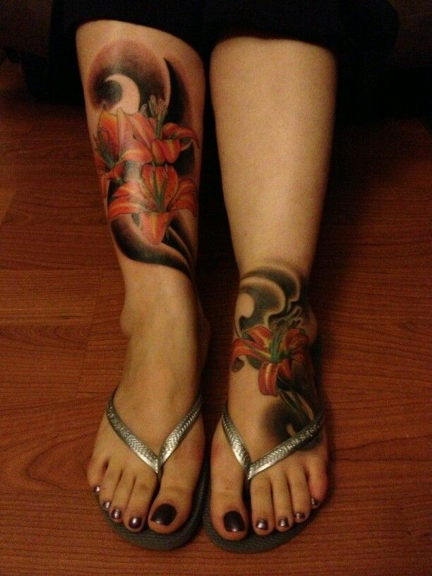 About Tiger Lily On Pinterest Sleeve Club Tattoo And Sleeve Tattoos Hourglass Tattoo Tattoos Foot Tattoo
