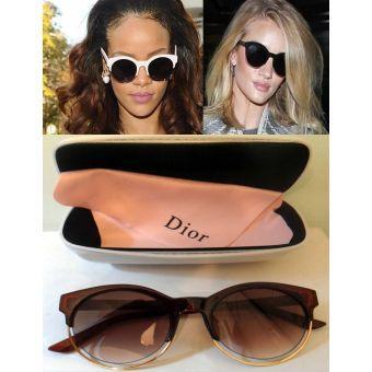 Lunettes de soleil Dior Sideral 1 Marron pour femme 2016   lunette ... 6502b23ba6ac