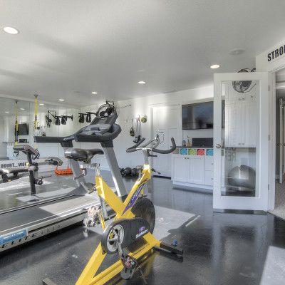 cf olsen homes basement gym home gym stationary bike
