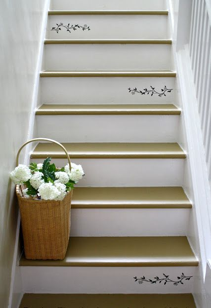 Revamp Staircase Design With Easy Stencil Decoration Patterns And Painting  Ideas | Wood Stairs, Stenciling And Decoration