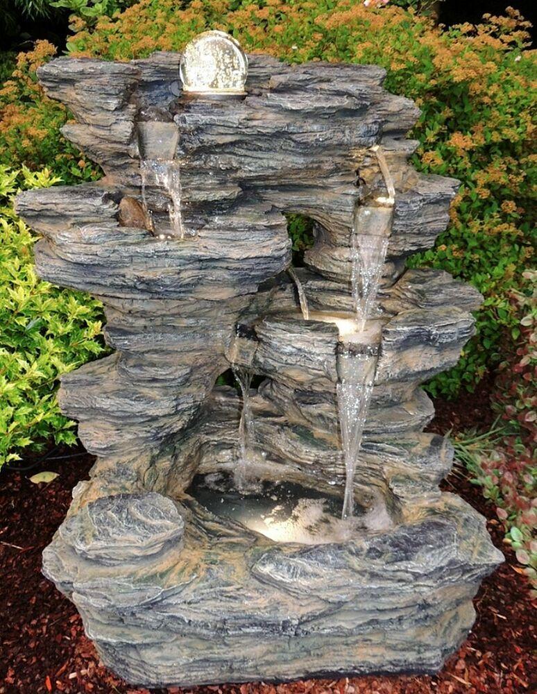 Ebay Sponsored Gartenbrunnen Zidan Brunnen Zierbrunnen Wasserfall Pumpe Led Glaskugel 10 Cm Gartenbrunnen Brunnen Garten
