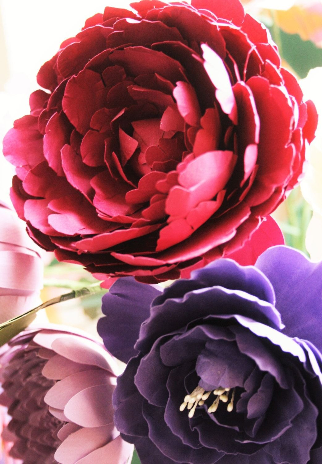 Make Your Own Gorgeous Blooms Shop Paper Flowers On Etsy Studio