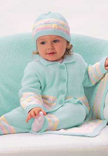 Daisies and Stripes Set by Patons free | Baby and Kids Crochet And ...