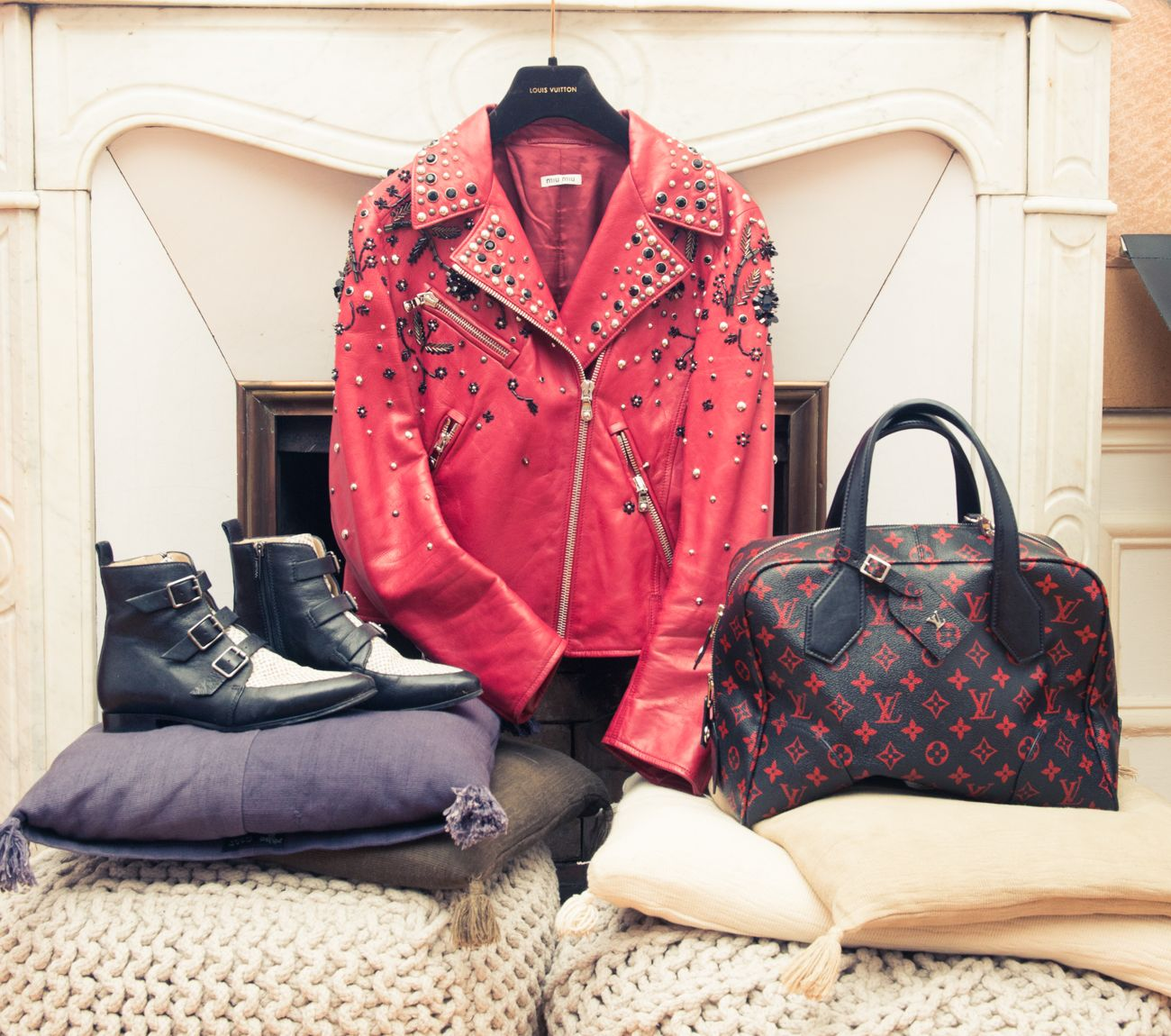 """""""I travel with personalized Louis Vuitton luggage that is monogrammed with my initials."""" http://www.thecoveteur.com/camille-seydoux-stylist/"""