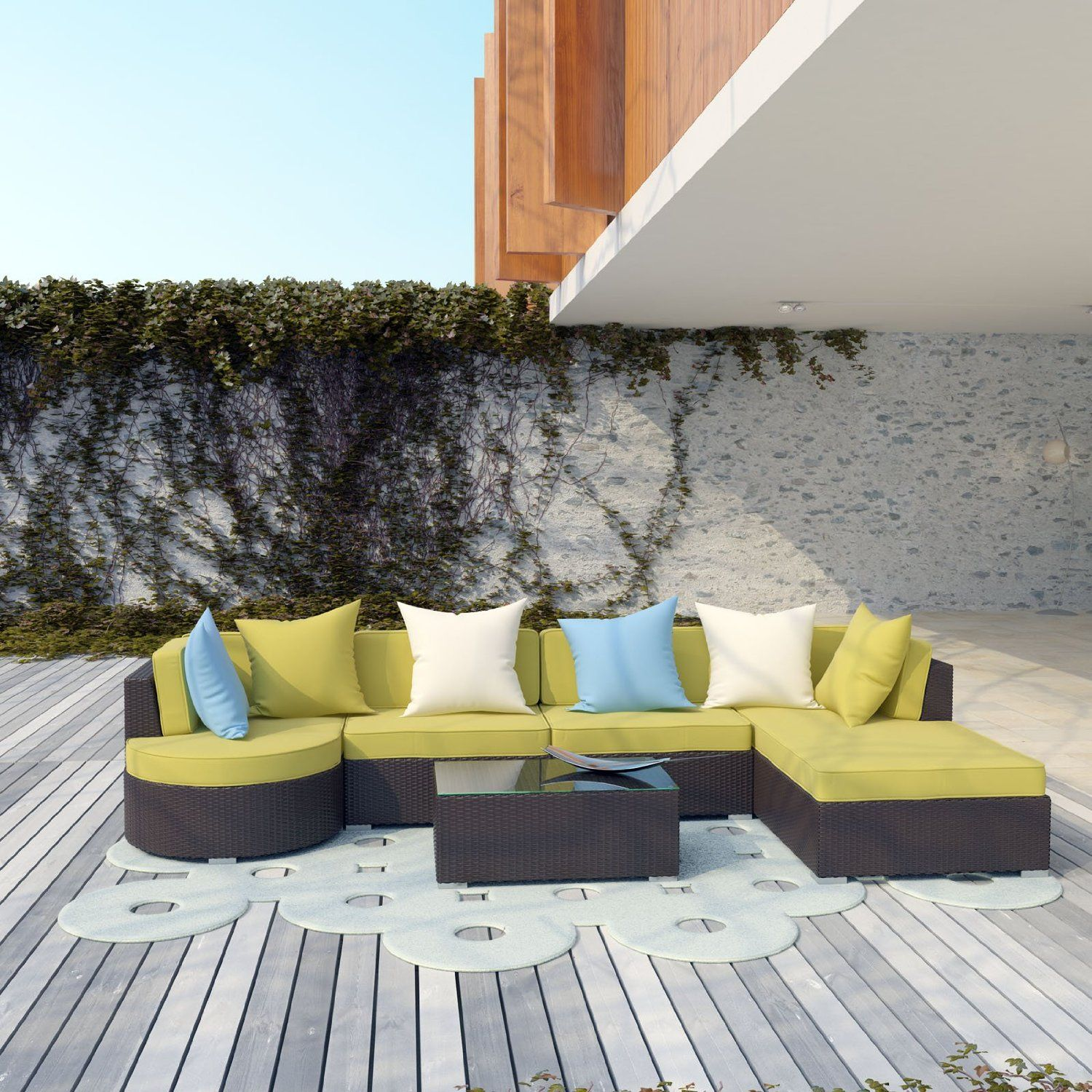 Amazon LexMod Montana Outdoor Wicker Rattan Patio Sectional