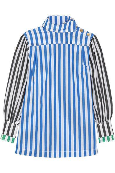 Striped Cotton-poplin Shirt - Blue Sonia Rykiel Cheap Sale Enjoy Discount Perfect Outlet Shop Cheap Sale Limited Edition IjVoFkql