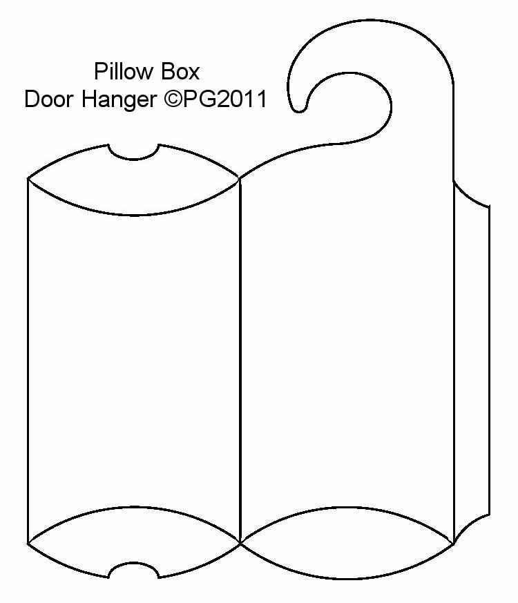 Door Hanger Template Pillow Box