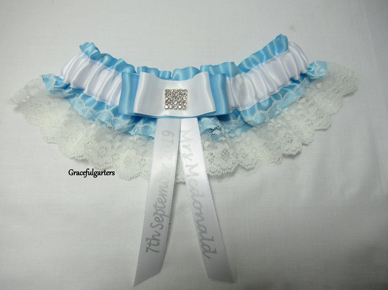 6 Grey /& White Handmade Garter Wedding//Hen Night//Fancy Dress