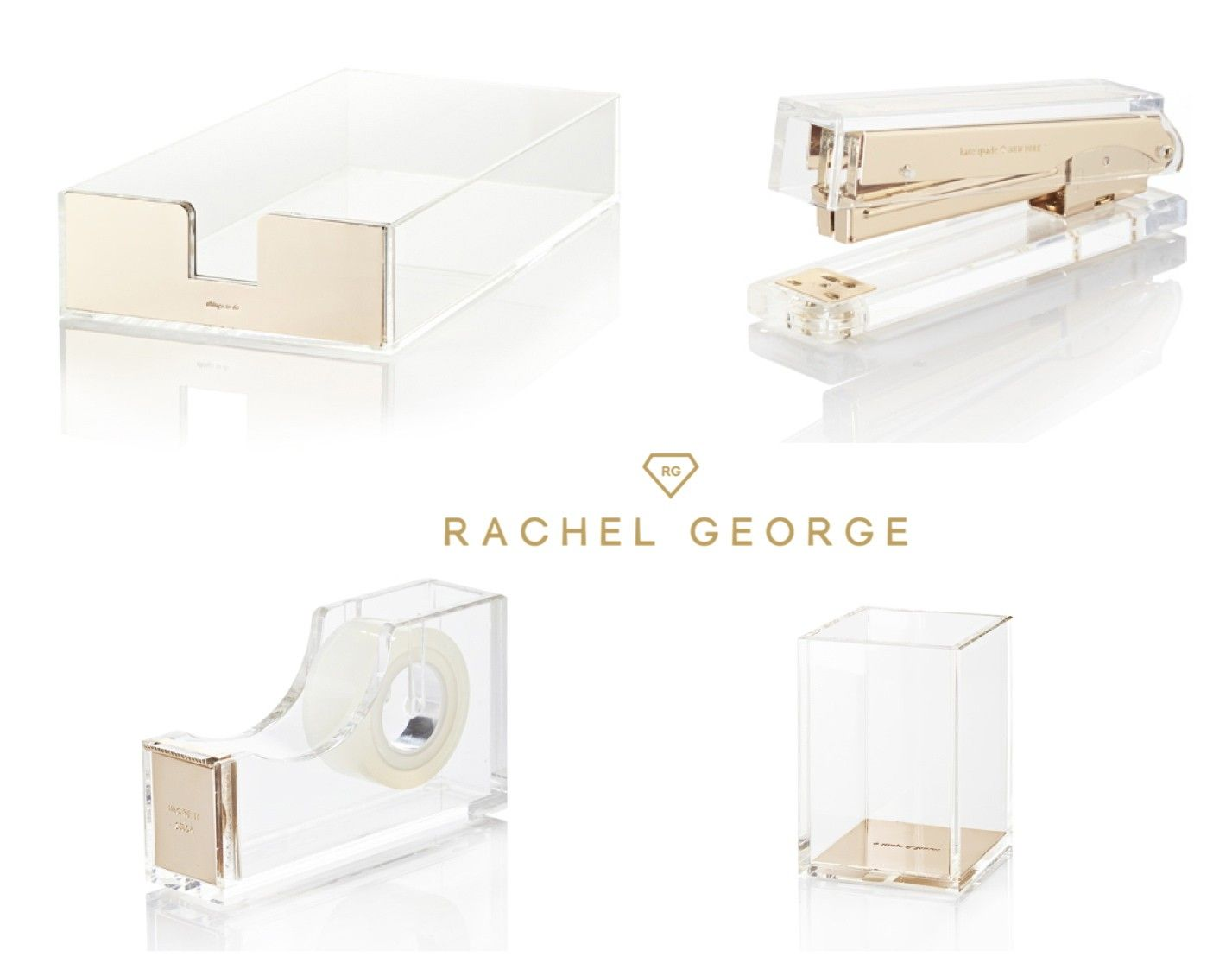 Kate Spade Acrylic Gold Office Set Katespade Keepittogether Goldoffice Available At Www