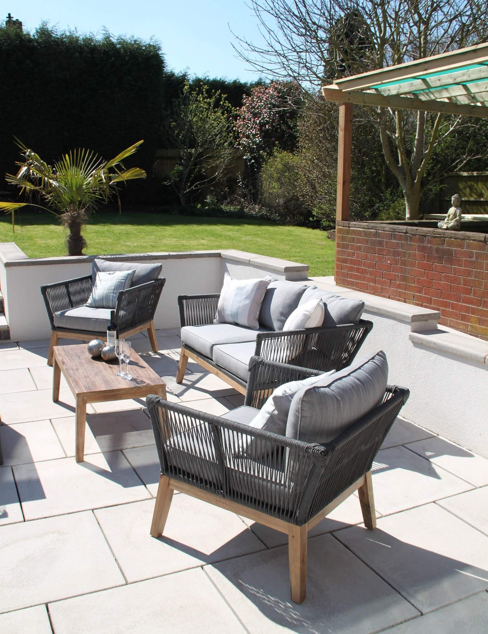 Rope Garden Furniture (With images) Garden sofa set