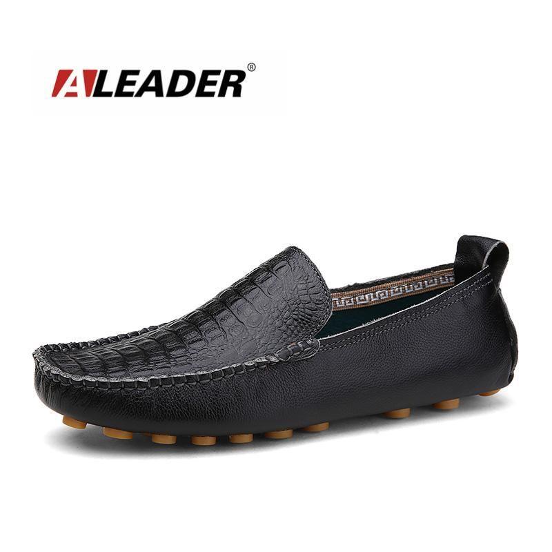 Boy's Men's Slip-On Soft Moccasin Boat Shoes Loafers