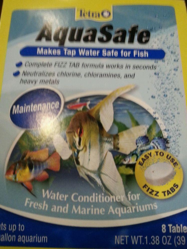 Tetra aquasafe tabs 8 tablets maintenance tap water safe