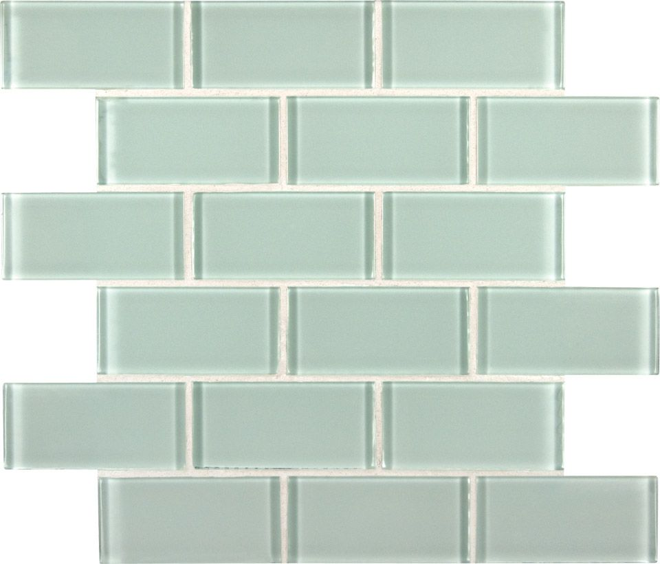 Artic Ice 2x4x8mm Subway Glass Tile In 12x12 Mesh Want Large Tiles For Tiling Tub Mosaic Wall Tiles Mosaic Glass Mosaic Tiles
