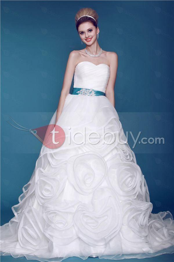 Delightful Ball Gown Sweetheart Floor-length Chapel Flowers Dasha\'s ...