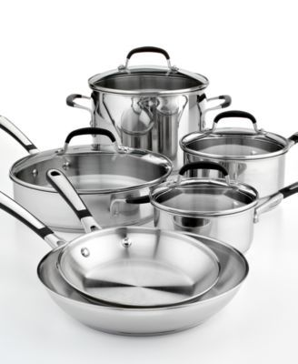 Tri Ply Stainless Steel 13 Pc Cookware Set Calphalon Cookware