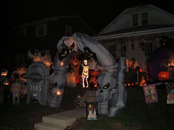 front yard decorations halloween prop haunted cemetery halloween inflatables