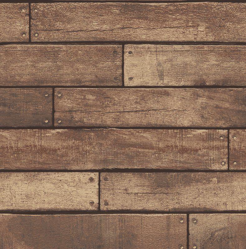 Essentials Weathered Nailhead Plank 33 X 20 5 Wood Wallpaper Roll Wood Plank Wallpaper Wood Wallpaper Rustic Wood Wallpaper