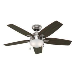 Hunter Antero 46 in. Indoor Brushed Nickel Ceiling Fan ...