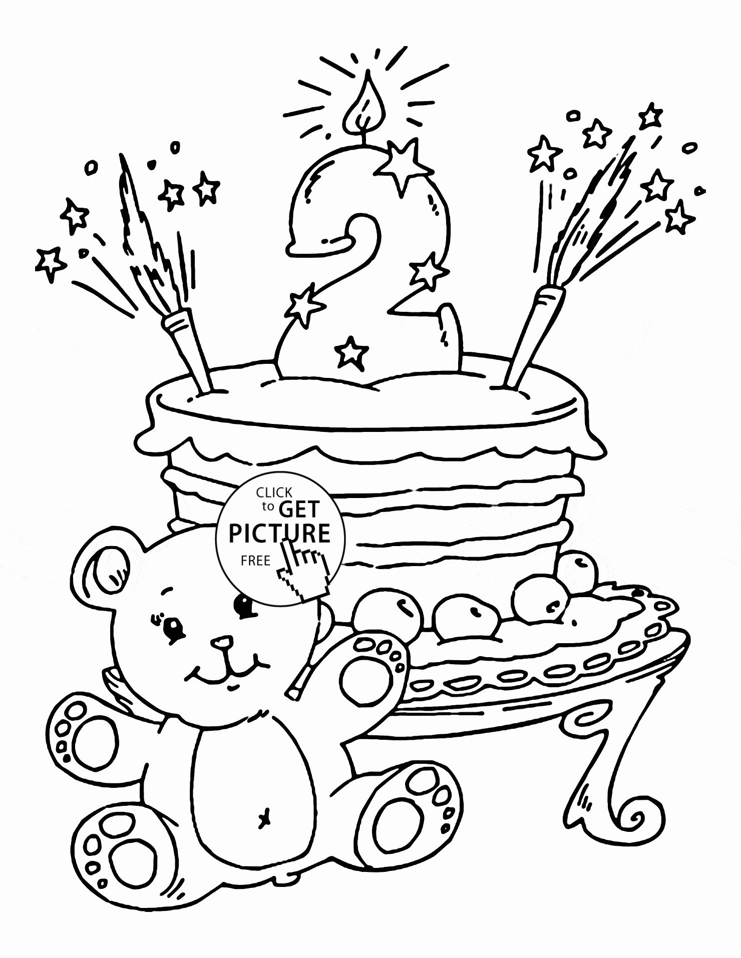 Birthday Coloring Pages For Kids In With Images