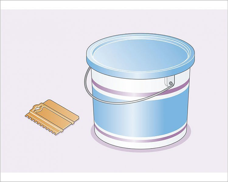 Print Of Digital Illustration Of Wall Tile Adhesive In Plastic Container And Notched Adhesive Spreader In 2020 Wall Tile Adhesive Adhesive Tiles Wall Tiles