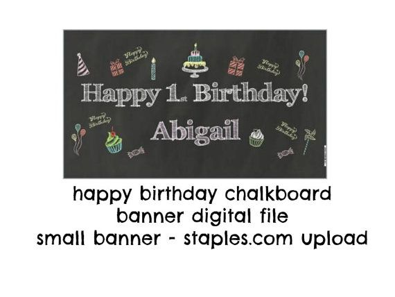 Chalkboard Banner Small Party Sign Party by TwoLaughingLambs, $5.00