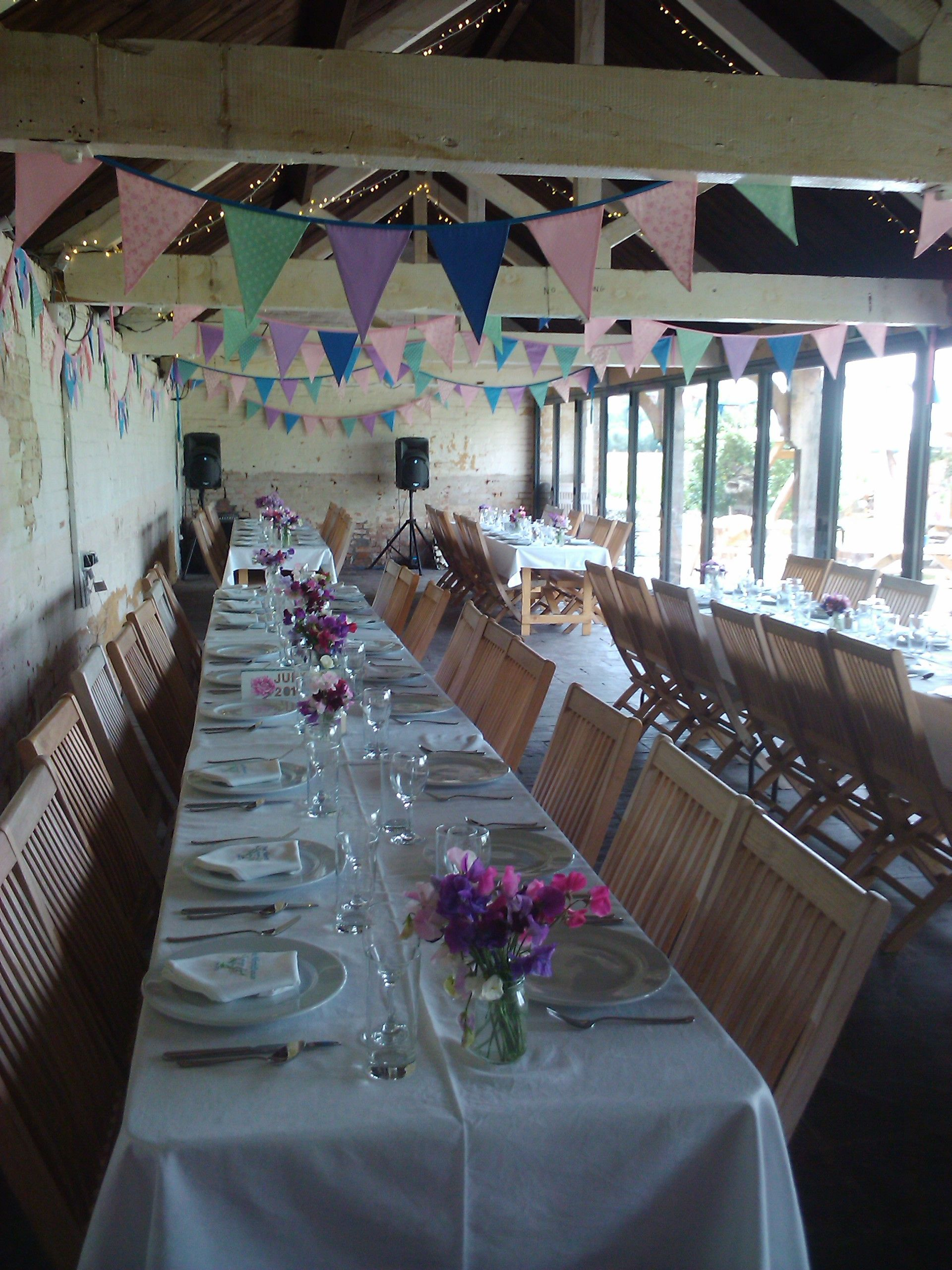 Wedding Party In The Barn