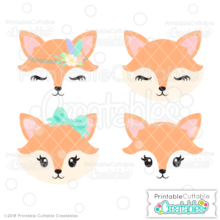 picture relating to Printable Cuttable Creatables identify Lovely Fox Confront SVG Information Misc pets Fox experience, Adorable fox