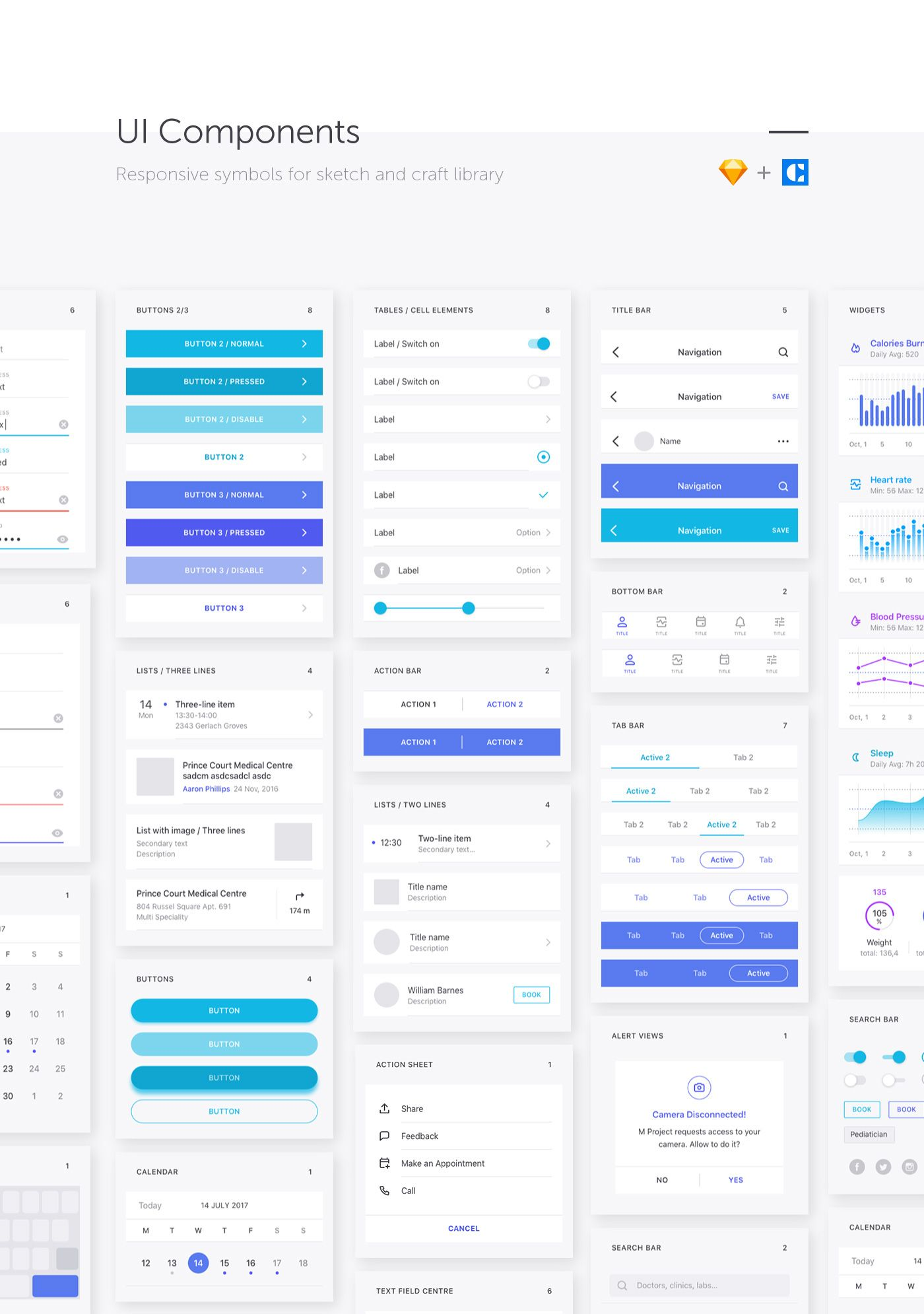 Medical & Healthcare iOS UI Kit M Project contains more than