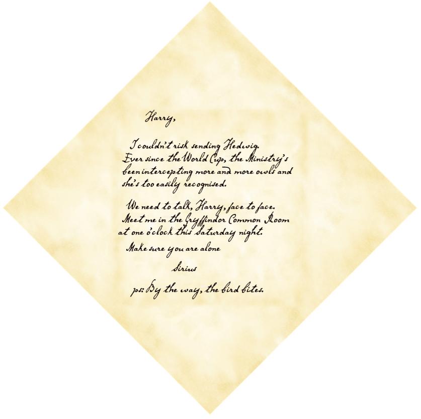 Bevorzugt La lettre de Sirius dans Harry Potter et la coupe de feu   The  WG26