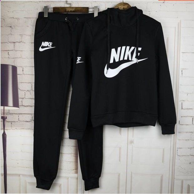 women fashion nike print hoodie top sweater pants