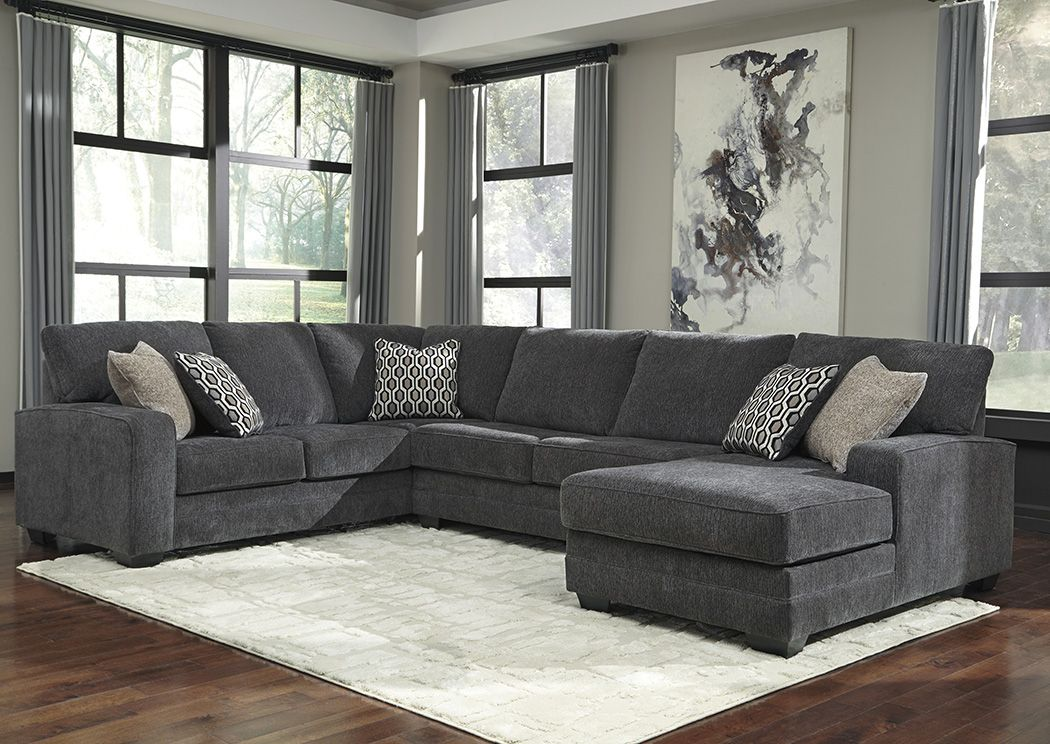 Tracling Slate Right Facing Sofa Sectional Benchcraft Living Room Furniture Living Room Decor Living Room Sectional
