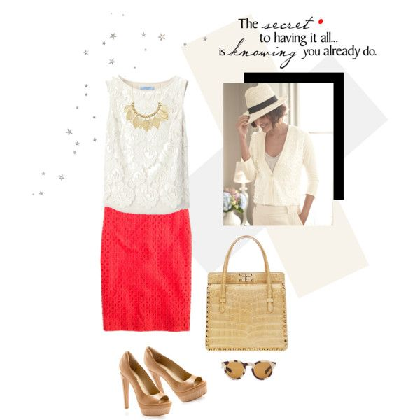 """Pencil Skirt by JCREW"" by fashionmonkey1 on Polyvore"