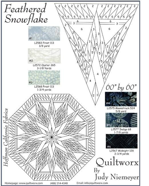 Feathered Snowflake Tree Skirt Kitting Sheets Paper