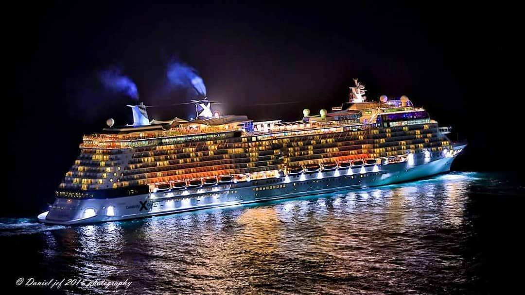 Cruise Vessel Celebrity Equinox Seen Moments After Leaving The