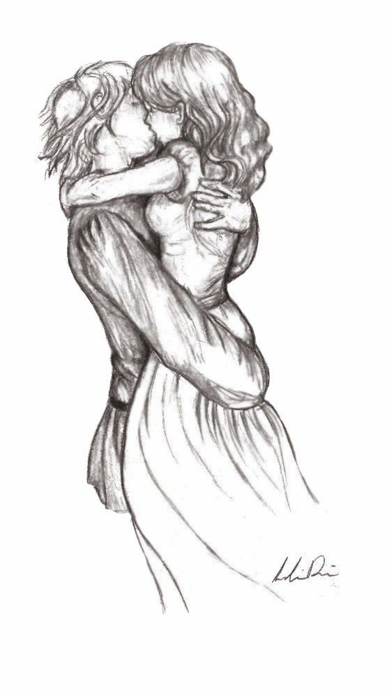 Pencil sketches of couples love friends and kiss by zizing 14 jpg 555x995 pixels