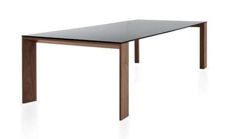 Tavolo con gambe e struttura in legno impiallacciato ...