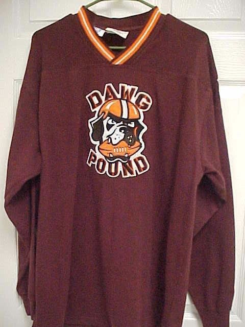 CLEVELAND BROWNS Dawg Pound NFL Cotton Polyester Sweatshirt L Lee Sports   LeeSports  ClevelandBrowns aaeca0939