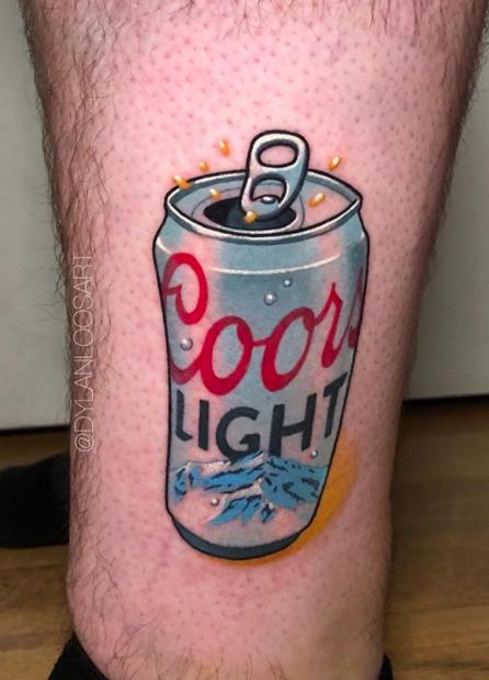 New School Food Tattoo : school, tattoo, School, Coors, Light, Tattoo, Tattoo,, Tattoos