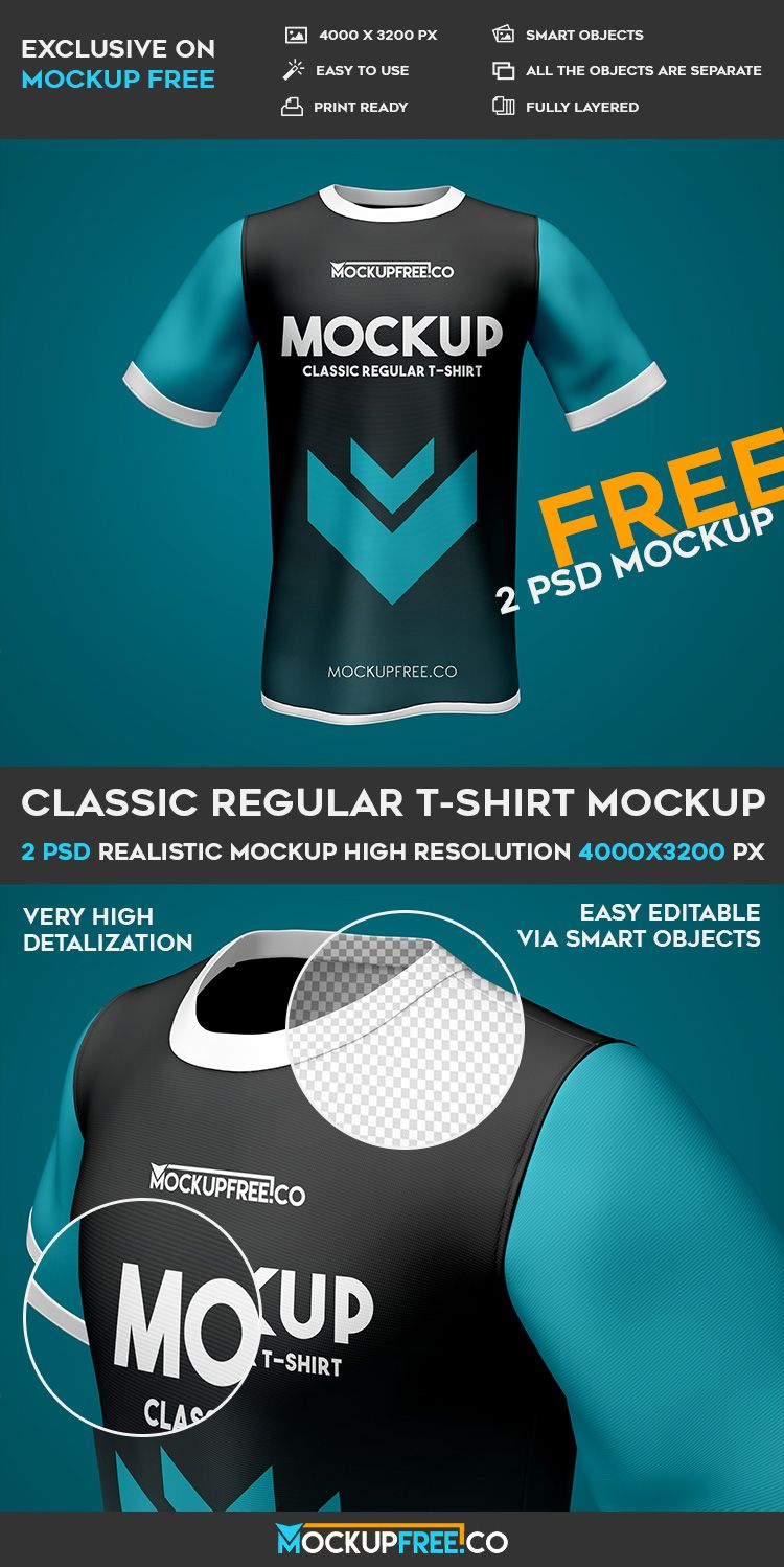 Download Classic Regular T Shirt 2 Free Psd Mockups Download Mockup Free Psd Tshirt Mockup Free Mockup Free Psd Download