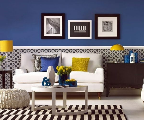 23 gemütliche wohnzimmer wohnideen mit deko in kräftigen farben, Wohnzimmer dekoo